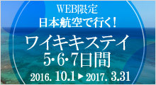 WEB限定 日本航空で行く!ワイキキステイ5・6・7日間
